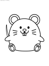 Мышка - скачать и распечатать раскраску. Раскраска мышь, мышка