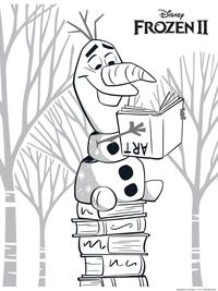 Снеговик Олаф - скачать и распечатать раскраску. Раскраска снеговик, холодное сердце 2