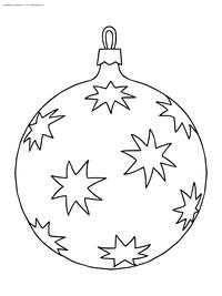 Елочный шар - скачать и распечатать раскраску. Раскраска шар, игрушка