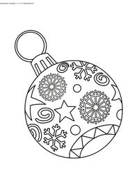 Елочный шар - скачать и распечатать раскраску. Раскраска шар, новый год