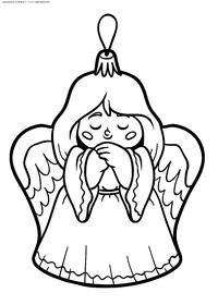 Ангел - скачать и распечатать раскраску. Раскраска игрушка