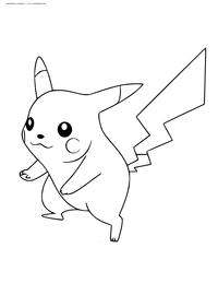 Покемон - скачать и распечатать раскраску. Раскраска