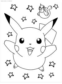 Покемон Пикачу - скачать и распечатать раскраску. Раскраска Пикачу