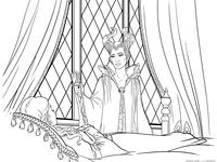 Малефисента горюет об Авроре - скачать и распечатать раскраску. фея, принцесса