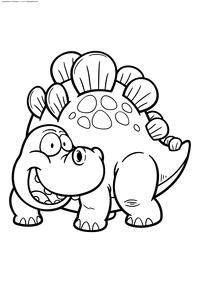 Стегозавр - скачать и распечатать раскраску. Раскраска динозавр