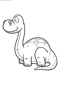 Апатозавр - скачать и распечатать раскраску. Раскраска динозавр