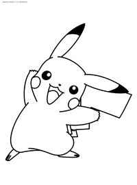 Покемон Пикучу - скачать и распечатать раскраску. Раскраска Пикачу