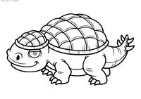 Анкилозавр - скачать и распечатать раскраску. Раскраска динозавр