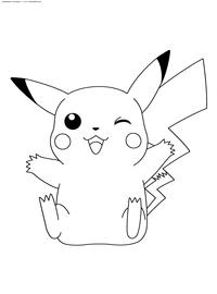 Раскраски Пикачу (Pikachu)