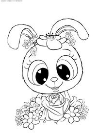 Зайчонок - скачать и распечатать раскраску. Раскраска зайчонок