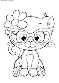 Котенок - скачать и распечатать раскраску. Раскраска котик, котенок, кот