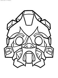 Маска Бамблби - скачать и распечатать раскраску. Раскраска бамблби, маска
