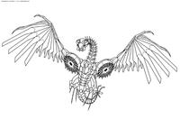 Разведчик десептиконов Лазербик - скачать и распечатать раскраску. Раскраска трансформер, десептикон