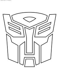 Символ автоботов - скачать и распечатать раскраску. Раскраска автобот