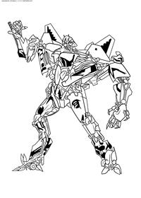 Десептикон Старскрим - скачать и распечатать раскраску. Раскраска десептикон, траснформер