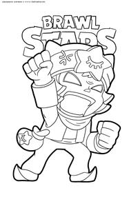 Легендарный боец Сэнди - скачать и распечатать раскраску. Раскраска браво старс, сэнди