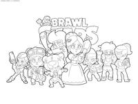 Команда девочек Браво Старс - скачать и распечатать раскраску. Раскраска браво старс, команда, персонажи, герои