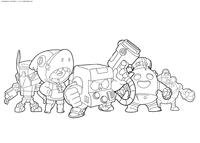 Команда Браво Старс - скачать и распечатать раскраску. Раскраска браво старс, команда