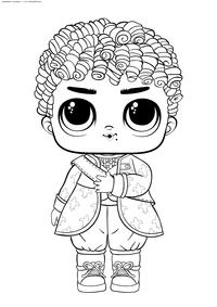 ЛОЛ Boy His Royal High Ney (мальчик Его величество Хай-Ней) - скачать и распечатать раскраску. Раскраска лол
