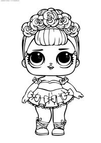 ЛОЛ Sugar Queen Glitter (Сахарная Королева) серия Блестящие - скачать и распечатать раскраску. Раскраска лол
