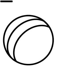 Мячик - скачать и распечатать раскраску. Раскраска мяч
