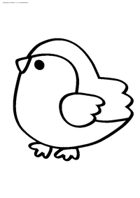 Птичка - скачать и распечатать раскраску. Раскраска воробей, птица
