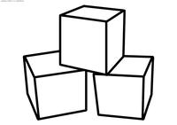 Кубики - скачать и распечатать раскраску. Раскраска игрушки. кубики