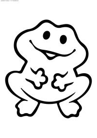 Лягушонок - скачать и распечатать раскраску. Раскраска лягушка