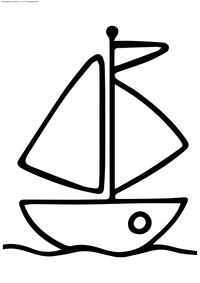 Кораблик - скачать и распечатать раскраску. Раскраска кораблик