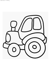 Трактор - скачать и распечатать раскраску. Раскраска трактор