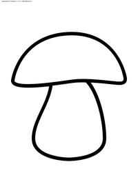 Гриб - скачать и распечатать раскраску. Раскраска гриб