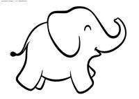 Слон - скачать и распечатать раскраску. Раскраска слон, слоненок
