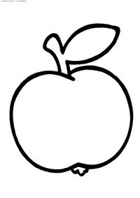 Яблоко - скачать и распечатать раскраску. Раскраска яблоко