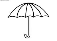 Зонтик - скачать и распечатать раскраску. Раскраска зонт