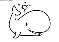 Кит - скачать и распечатать раскраску. Раскраска кит