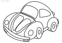 Автомобиль - скачать и распечатать раскраску. Раскраска машина, автомобиль