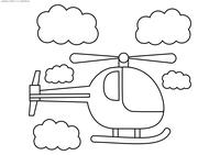 Вертолет - скачать и распечатать раскраску. Раскраска вертолет