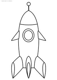 Ракета - скачать и распечатать раскраску. Раскраска ракета, игрушка