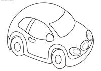 Машинка - скачать и распечатать раскраску. Раскраска автомобиль, машинка