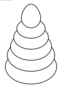 Пирамидка - скачать и распечатать раскраску. Раскраска пирамидка, игрушка