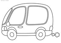 Микроавтобус - скачать и распечатать раскраску. Раскраска автобус