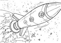 Космический корабль - скачать и распечатать раскраску. Раскраска ракета, космос