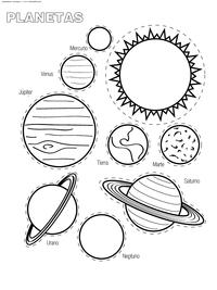 Планеты Солнечной системы - скачать и распечатать раскраску. Раскраска планеты, солнце