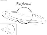 Планета Нептун - скачать и распечатать раскраску. Раскраска планета, нептун