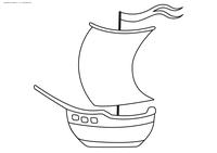 Кораблик - скачать и распечатать раскраску. Раскраска кораблик, парусник