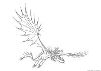 Сморкало и дракон Кривоклык - скачать и распечатать раскраску. Раскраска Драконий всадник, дракон