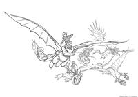 Драконьи всадники - скачать и распечатать раскраску. Раскраска Иккинг, Астрид, Рыбтеног, Сморкало, Забияка, Задирака, драконы, Беззубик, Пристеголов, Кривоклык, Сарделька, Громгильда