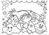 Принцесса Розочка - скачать и распечатать раскраску. Раскраска Раскраски Тролли, раскраски Тролли распечатать