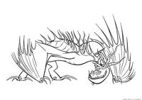 Дракон Кривоклык - скачать и распечатать раскраску. Раскраска Дракон