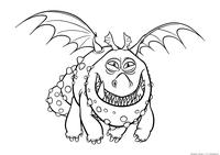Дракон Сарделька - скачать и распечатать раскраску. Раскраска Дракон
